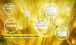 Reader's Purpose and Author's Tools