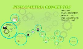 PSICOMETRIA CONCEPTOS