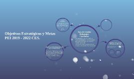 Objetivos Estratégicos y Metas PEI 2019 - 2022 CES.