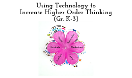 Copy of Using Technology to Increase Higher Order Thinking