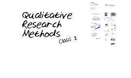 Qualitative Methods: Class 1
