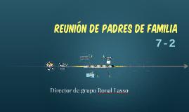 REUNIÓN DE PADRES DE FAMILIA