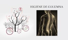 Copy of HIGIENE DE COLUMNA