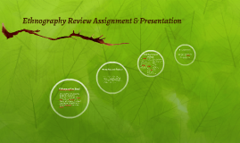 Ethnography Review Assignment & Presentation