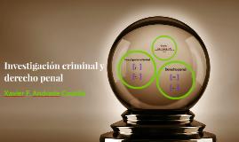 Investigación criminal y derecho penal