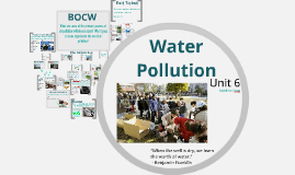 Unit 6: Water Pollution