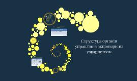 Структура органів управління акціонерним товариством