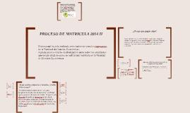 PROCESO DE MATRICULA 2014 II
