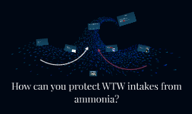 How can you protect WTW intakes from ammonia?