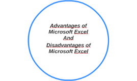 Advantages of Microsoft Excel