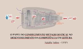 Copy of O papel do conhecimento metagramatical no desenvolvimento da