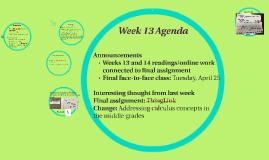Week 13