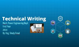 Technical Writing - Week 1