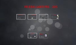 PRUEBAS SABER PRO - 2015