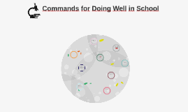 Copy of Commands for Doing Well in School
