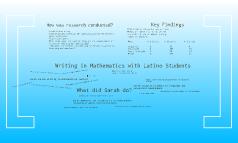 Writing in Mathematics with Latino Students
