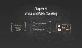 Chapter 9: Ethics and Public Speaking