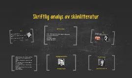 Skriftlig analys av skönlitteratur