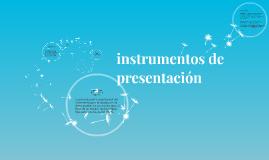instrumentos de presentacion
