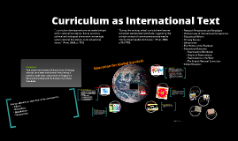 Curriculum as International Text