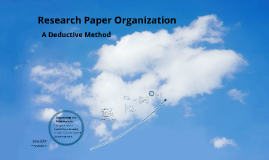 Research Paper Organization/Info Check