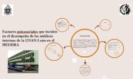 Factores psicosociales que inciden en el desempeño de los médicos internos