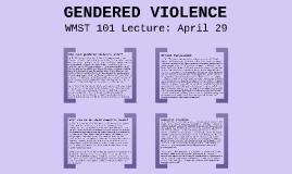 WMST 101 - April 29
