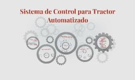 Diseño e Implementación del Sistema de Control para Tractor