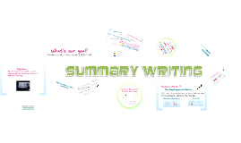How to Write an Objective Summary