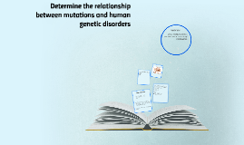 Determine the relationship between mutations and human genet