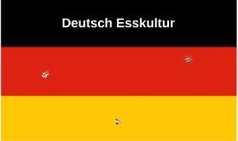 Deutsch Esskultur