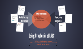 Using Dropbox in eCLASS