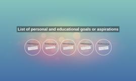 personal aspirations