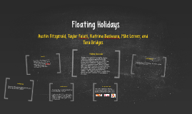 Copy of Floating Holidays