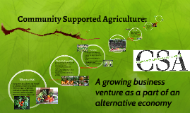 Community Supported Agriculture: