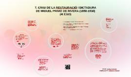 8. La crisi de la Restauració, II República i la Guerra Civil a Espanya (1898-1939)
