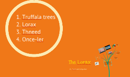 Copy of The Lorax/Allegories