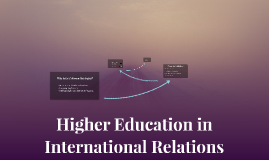 Higher Education in International Relations