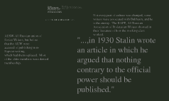 How was art treated in Stalin's Russia?  And to what extent was it censored?