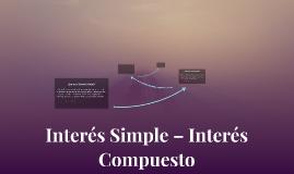 Interés Simple – Interés Compuesto
