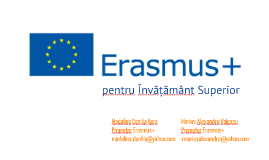 Madalina Bera & Alexandru Valeanu: Prezentare Promotori Erasmus+ 2016