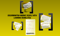 Discrimination Against People With Learning Disabilities