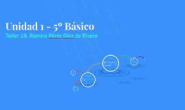 Copy of Unidad 5º. Taller 2 . Naturales Chile
