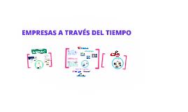 EMPRESAS A TRAVES DEL TIEMPO