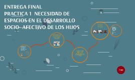 NECESIDAD DE ESPACIOS EN EL DESARROLLO SOCIO AFECTIVO DE LOS