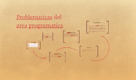 Problematicas del area programatica