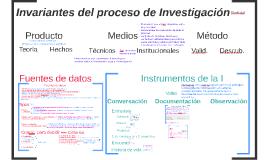 Invariantes del proceso de Invetigación