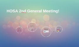 HOSA 2nd General Meeting (Fall 2017)