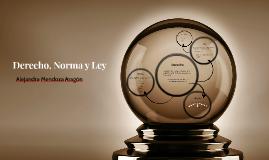 Derecho, Norma y Ley