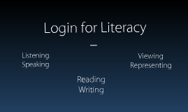 Login for Literacy
